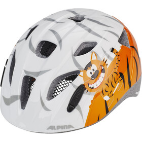 Alpina Ximo Helm Kinder weiß/orange